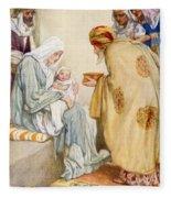 The Visit Of The Wise Men Fleece Blanket