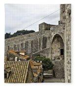 The Wall In Dubrovnik Fleece Blanket