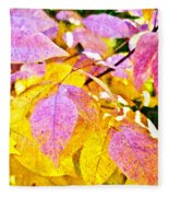 The Warm Glow In Autumn Abstract Fleece Blanket