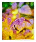 The Warmth Of Autumn Glow Abstract Fleece Blanket