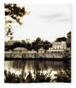 The Waterworks In Sepia Fleece Blanket