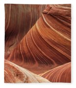 The Wave Into The Fold Fleece Blanket