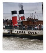 The Waverley Paddle Steamer Fleece Blanket