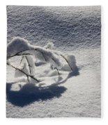 The Weight Of Winter Fleece Blanket
