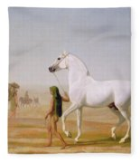 The Wellesley Grey Arabian Led Through The Desert Fleece Blanket