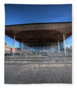 The Welsh Assembly Building 2 Fleece Blanket