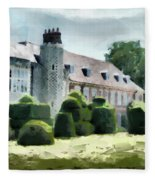The West Wing Of Historic Hall Place  Fleece Blanket
