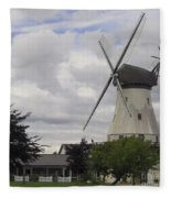 The White Windmill Fleece Blanket