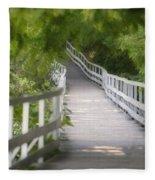 The Whitewater Walk Boardwalk Trail Fleece Blanket