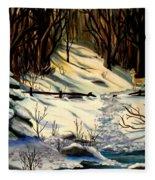 The Winter Trail Fleece Blanket
