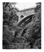 The Wissahickon Creek And Henry Avenue Bridge Fleece Blanket