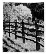 The Wooden Fence Fleece Blanket