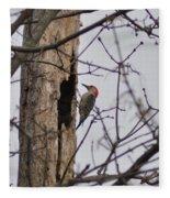 The Woodpecker Fleece Blanket