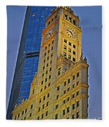 The Wrigley Building Fleece Blanket