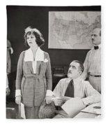 The Yelllow Typhoon, 1920 Fleece Blanket
