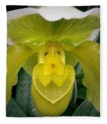The Yellow Orchid Fleece Blanket