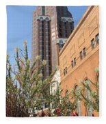 Theater District And City Flowers Fleece Blanket