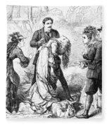 Theater: False Shame, 1872 Fleece Blanket
