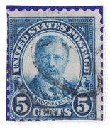 Theodore Roosevelt Postage Stamp Fleece Blanket