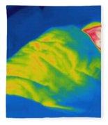 Thermogram Of A Child Sleeping Fleece Blanket