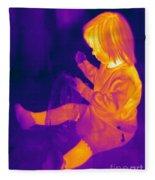 Thermogram Of A Young Girl Fleece Blanket