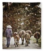 They Walk Together Fleece Blanket