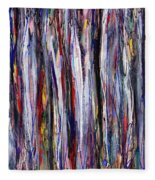 Thicket In Ice Fleece Blanket