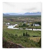 Thingvellir Valley Fleece Blanket