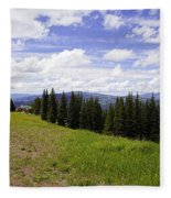 This Way To Eagle Nest - Vail Fleece Blanket