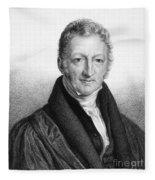 Thomas Robert Malthus Fleece Blanket