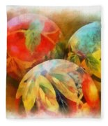 Three Balls - Watercolor Fleece Blanket