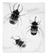 Three Beetles X-ray Fleece Blanket