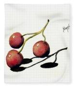 Three Cherries Fleece Blanket