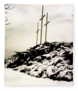 Three Crosses Fleece Blanket