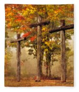 Three Crosses Fleece Blanket