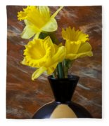 Three Daffodils Fleece Blanket