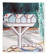 Three Mailboxes Sketchbook Project Down My Street Fleece Blanket