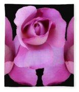 Three Roses Painterly Fleece Blanket