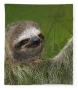 Three-toed Sloth Fleece Blanket