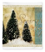 Three Trees Framed Fleece Blanket