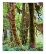 Through Moss Covered Trees Fleece Blanket