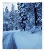 Through The Snow Fleece Blanket