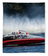 Thunder At The Lake Fleece Blanket