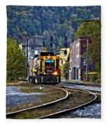 Thurmond Wv Train Fleece Blanket