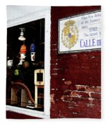 The Window On Calle Del Maine Fleece Blanket