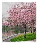 Tidal Basin Near Jefferson Memorial Fleece Blanket
