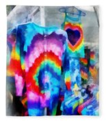 Tie Dye Shirts Fleece Blanket