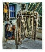 Tied Up Lines Fleece Blanket