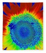 tiedyed Sunflower Fleece Blanket