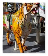 Tiger Carousel Ride Fleece Blanket